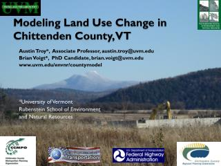 Modeling Land Use Change in Chittenden County, VT