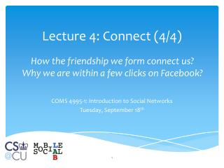 Lecture  4:  Connect  (4/4)
