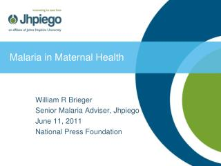 Malaria in Maternal Health