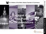 Metro Atlanta Chamber Formed The Regional Arts Taskforce To Address Key Challenges For The Arts