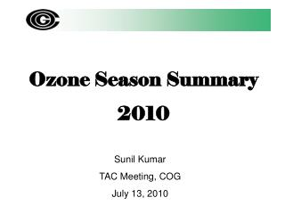 Ozone Season Summary 2010
