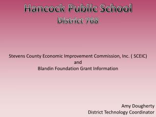 Hancock Public School District 768