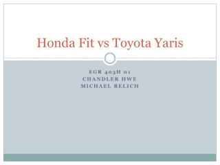 Honda Fit  vs  Toyota  Yaris
