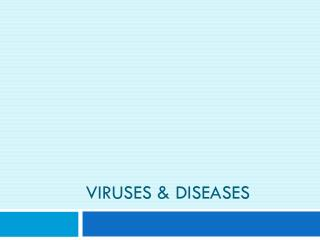 Viruses & Diseases