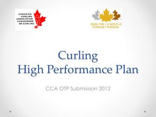 Curling High Performance Plan