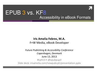 EPUB 3 vs. KF 8