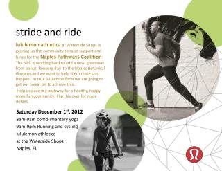 stride and ride