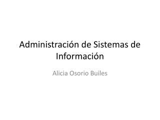 Administración de Sistemas de Información