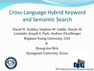 Cross-Language Hybrid Keyword and Semantic Search
