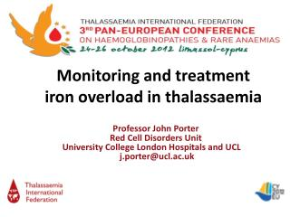 Monitoring and treatment iron overload in  thalassaemia