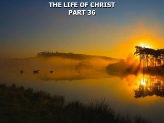 THE LIFE OF CHRIST PART 36