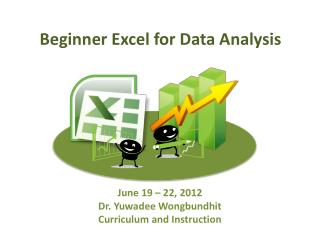 Beginner Excel for Data Analysis