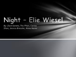 Night – Elie Wiesel