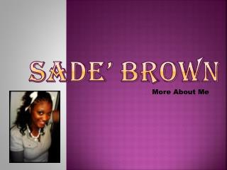 Sade' Brown