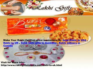 Send Rakhi Gifts UK,USA,Canada,Australia