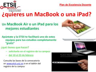 ¿quieres un MacBook o una iPad?