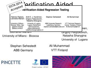 Verification Aided Regression Testing (VART)