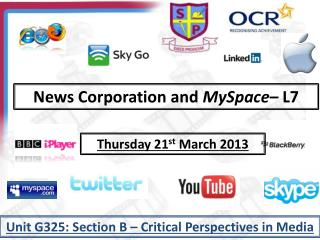 News Corporation and  MySpace – L7