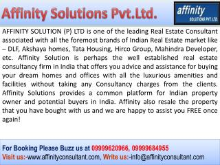 "BEST BOOKING - GST Road Projects - ""AffinityConsultant.Com"""