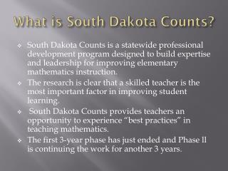 What is South Dakota Counts?