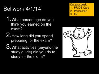 What percentage do you think you earned on the exam?