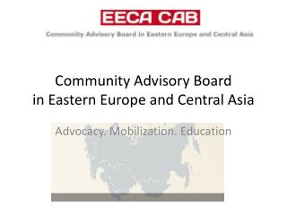 Community Advisory Board in Eastern Europe and Central Asia