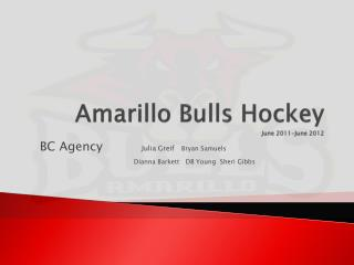 Amarillo Bulls Hockey June 2011-June 2012