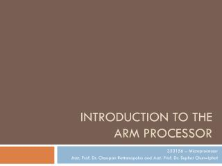Introduction to the ARM processor