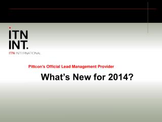 Pittcon's Official Lead Management Provider What's New for 2014?