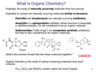 What is Organic Chemistry?