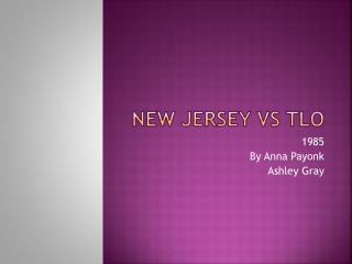 New Jersey vs TLO