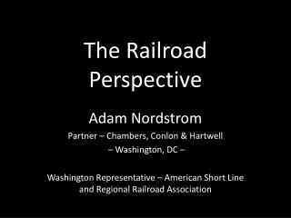 The Railroad Perspective