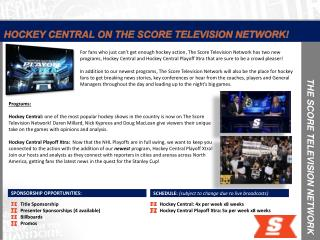 THE SCORE TELEVISION NETWORK