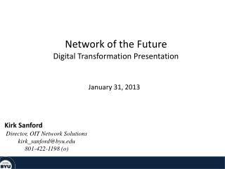Network of the Future Digital Transformation Presentation