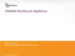 SafeNet KeySecure Appliance