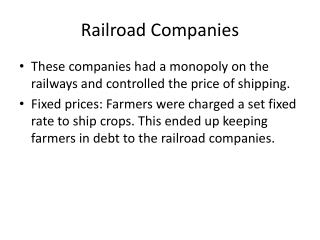 Railroad Companies