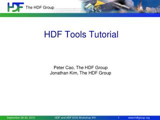 HDF Tools Tutorial