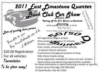 2011 East Limestone Quarter        Back Club Car Show