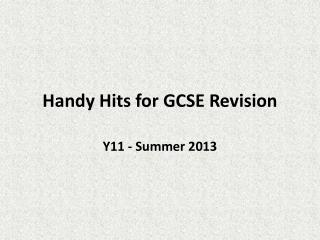 Handy Hits for GCSE Revision