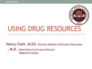 Using Drug Resources