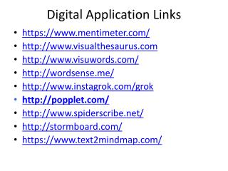 Digital Application Links