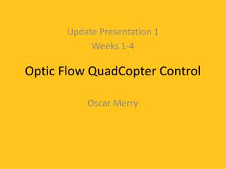 Optic Flow QuadCopter Control