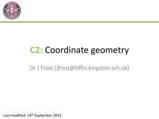 C2: Coordinate geometry