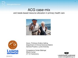 ACG case-mix and needs-based resource allocation in primary ...