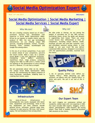 Social Media Optimization