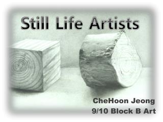 CheHoon Jeong 9/10 Block B Art