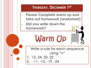 Thursday, December 1 st