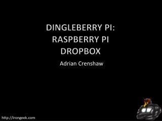 Dingleberry  Pi: Raspberry Pi Dropbox