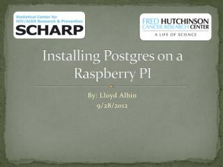 Installing Postgres on a Raspberry PI