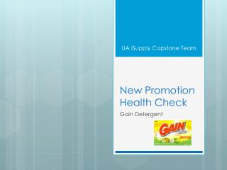 New Promotion Health Check